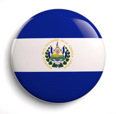 bandera de el salvador: Icono de la bandera de El Salvador. Foto de archivo