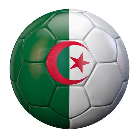 algerian flag: Algerian flag football ball. Stock Photo