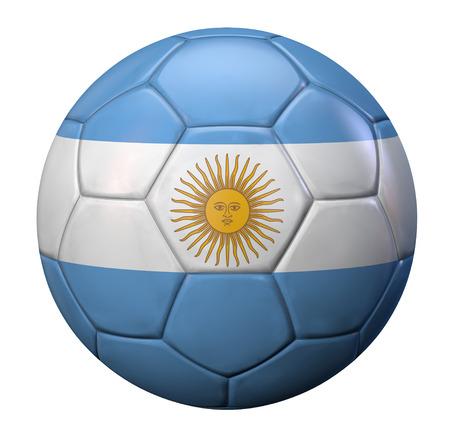 bandera argentina: Argentina bal�n de f�tbol bandera.