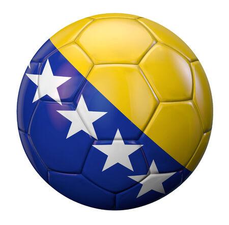 bosnian: Bosnian flag textured football ball.