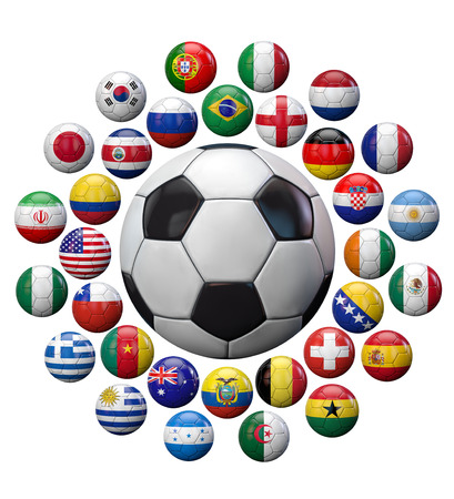 Soccer football ball isolated on white.  Stock Photo - 25923662