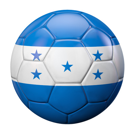 bandera honduras: Balón de fútbol de la bandera de Honduras.