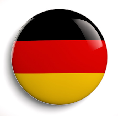 German flag design icon on white. Clipping path included.