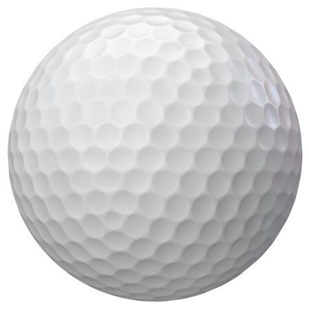 Golfbal geïsoleerd op wit. Stockfoto