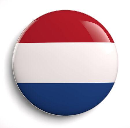 dutch flag: Dutch flag symbol isolated on white.  Stock Photo