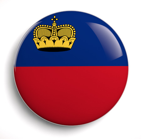 Liechtenstein flag icon.  photo