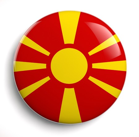 macedonia: Macedonia flag icon.  Stock Photo