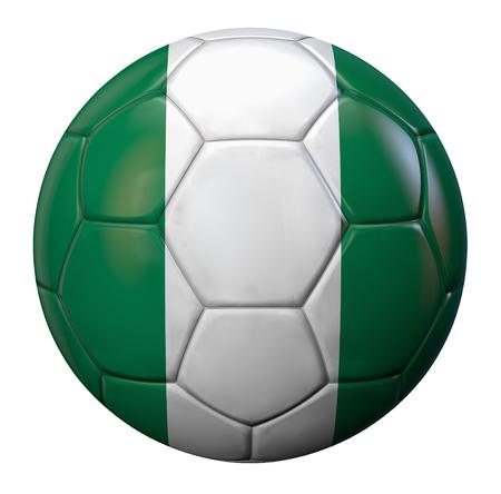 nigerian: Nigerian flag football ball.