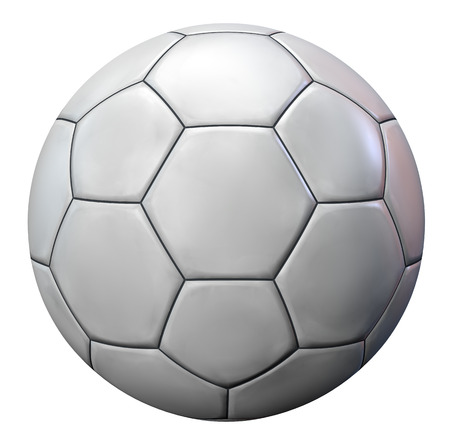 White football or soccer ball isolated. Stock Photo - 25923897