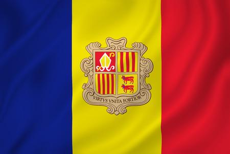 Andorra national flag background texture. photo
