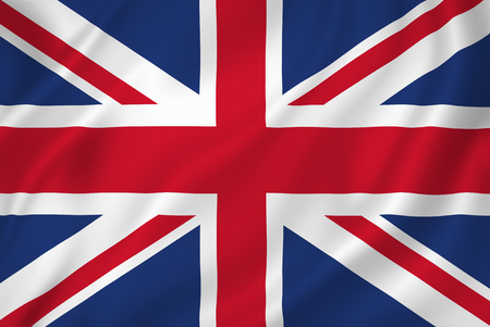 British national flag background texture. Imagens - 26448258