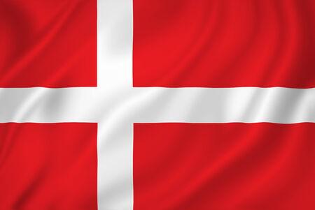 デンマークの国旗のバック グラウンド テクスチャ。