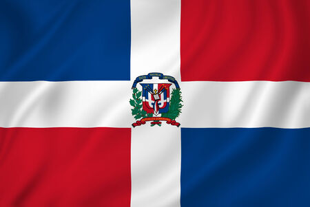 dominican republic: Dominican Republic national flag background texture. Stock Photo