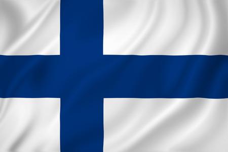 Finland nationale vlag als achtergrond.