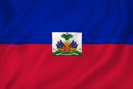 haiti: Haiti coast national flag background texture.