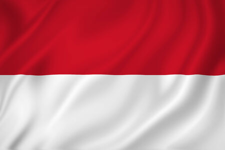 Indonesia national flag background texture. Banque d'images