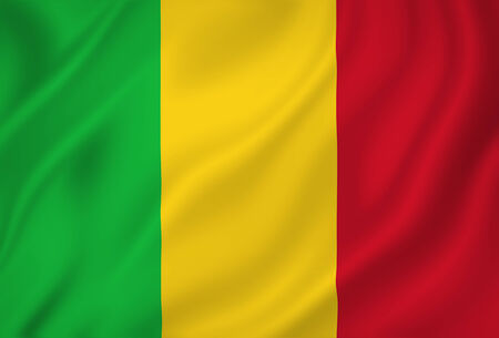 mali: Mali national flag background texture.