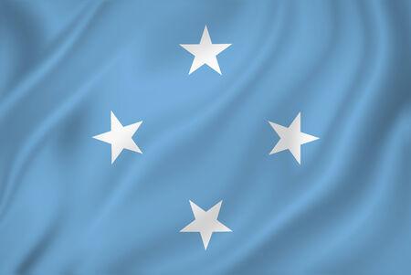micronesia: Micronesia national flag background texture.