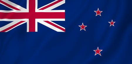 bandera de nueva zelanda: Nueva textura del fondo de la bandera Zelanda. Foto de archivo