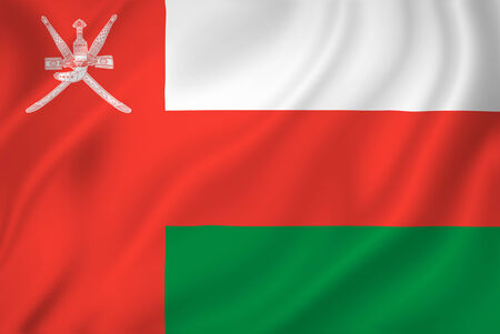oman background: Oman national flag background texture. Stock Photo