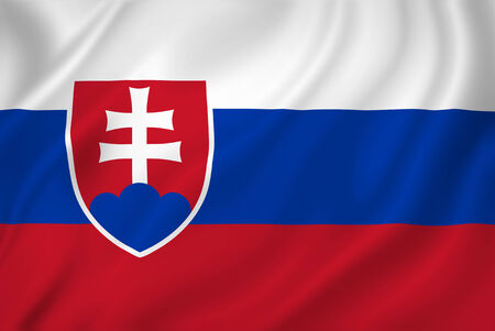 Slovakia national flag background texture. Stock Photo