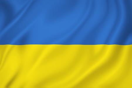 Ukraine national flag background texture. Stockfoto