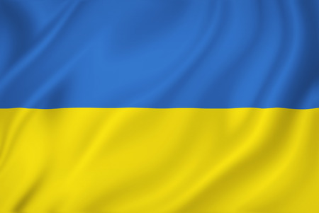 Ukraine national flag background texture. Standard-Bild
