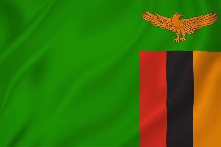 zambian flag: Zambia national flag background texture. Stock Photo