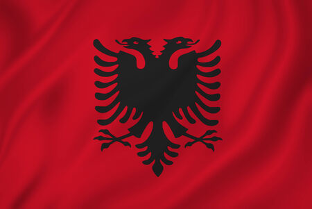 albanian: Albanian national flag background texture.