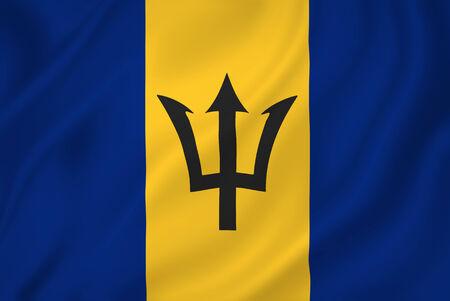 barbadian: Barbados national flag background texture.