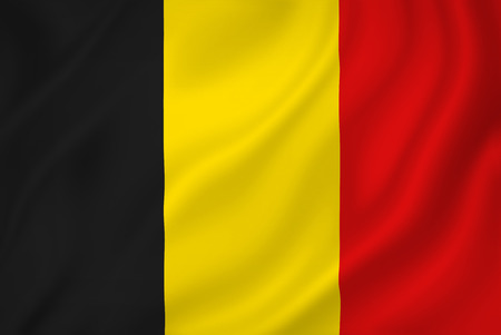 Belguim national flag background texture.