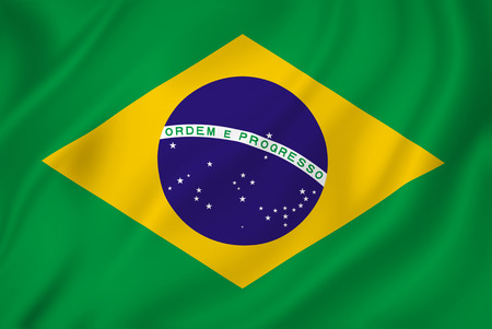 Brazil national flag background texture. 스톡 콘텐츠