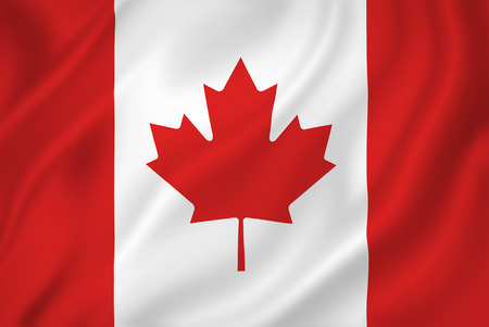 Canada national flag background texture.