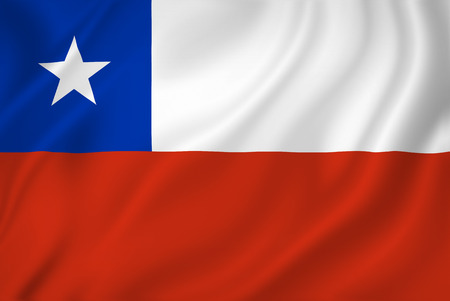 chile flag: Chile national flag background texture. Stock Photo