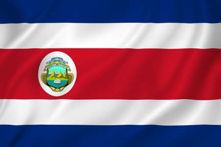 costa rica flag: Costa Rica national flag background texture.