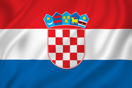 Croatian national flag background texture. photo