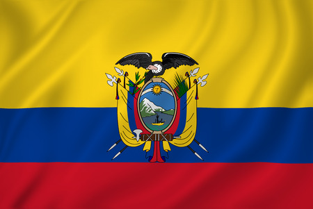 Ecuador national flag background texture. photo
