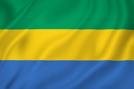 gabon: Gabon national flag background texture.