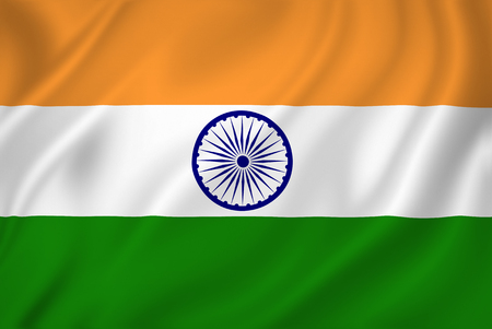 india 3d: India national flag background texture. Stock Photo