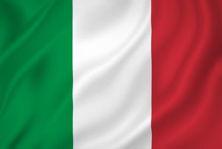 bandera italia: Textura del fondo de la bandera nacional de Italia.