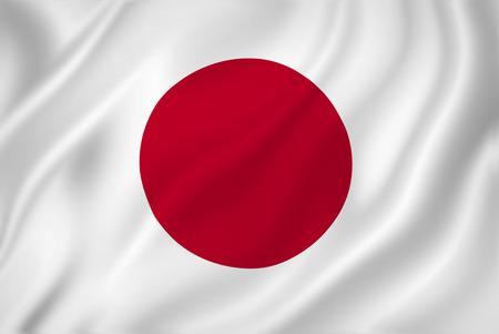 Japanese national flag background texture. Standard-Bild