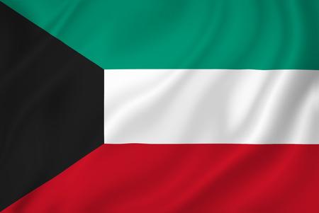 Kuwait national flag background texture. 版權商用圖片