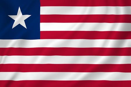 liberia: Liberia national flag background texture. Stock Photo