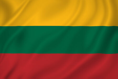 lithuanian: Lithuania national flag background texture. Stock Photo