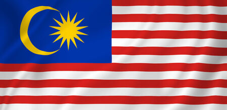 Malaysia national flag background texture.