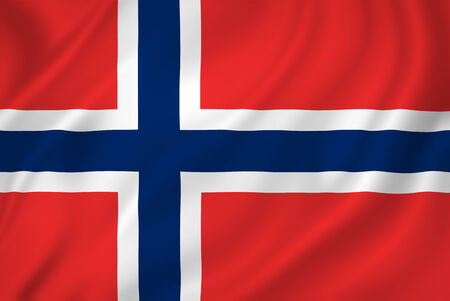 Norway national flag background texture. Stock Photo