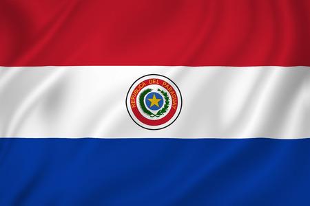 bandera de paraguay: Textura fondo de la bandera nacional de Paraguay. Foto de archivo