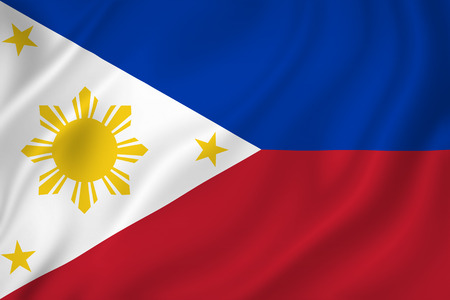 Philippines national flag background texture. Stock Photo