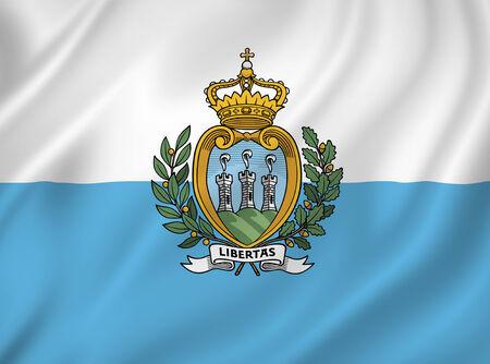 san marino: San Marino flag background texture.