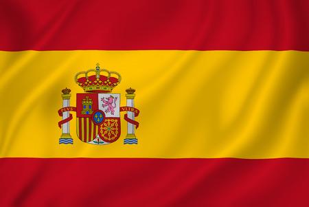 Spanje nationale vlag als achtergrond.